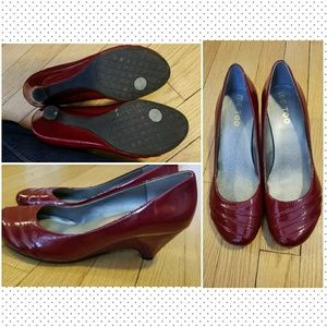 Me Too Red Patent Leather Low heel